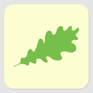 Green Leaf, Oak Tree leaf Design. Stickers