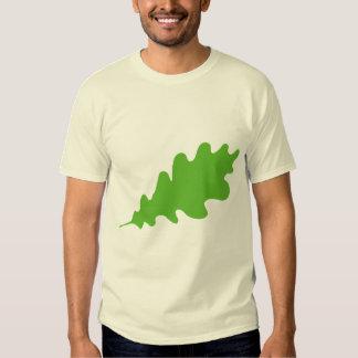 Green Leaf, Oak Tree leaf Design. T Shirt