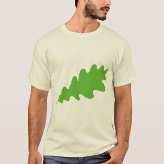 Green Leaf, Oak Tree leaf Design. T-Shirt