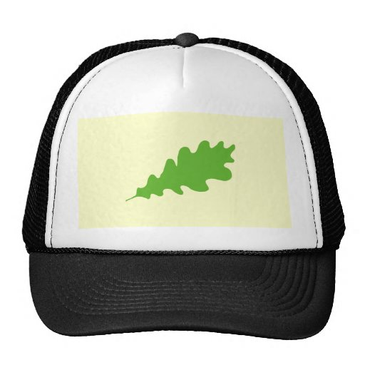 Green Leaf, Oak Tree leaf Design. Trucker Hat