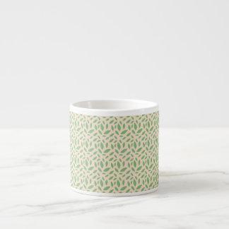 Green Leaf Pattern Espresso Cup