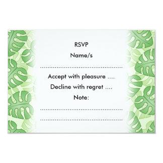 Green Leaf Pattern. 3.5x5 Paper Invitation Card