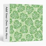 Green Leaf Pattern. Vinyl Binder