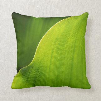 green leaf pillow