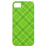 Green Leaf Plaid Pattern iPhone 5 Case