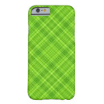 Green Leaf Plaid Pattern iPhone 6 Case