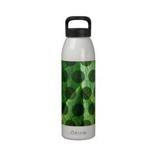 Green Leaf Polka Dot Water Bottles