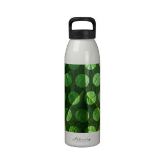 Green Leaf Polka Dots Water Bottles