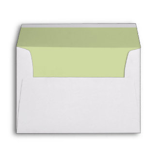 Green Leaf Simplicity Personalized Envelope