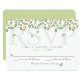 Green Leaf Simplicity RSVP 3.5x5 Enclosure Card