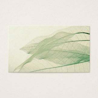 green leaf skeletons business card