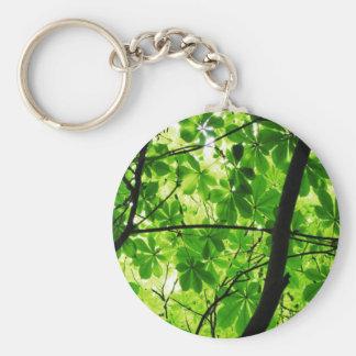 Green Leaf Sky Keychain