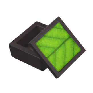 Green Leaf Small Gift Box Premium Trinket Boxes