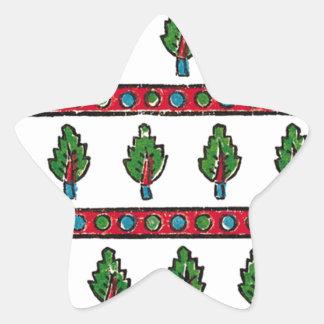green leaf star sticker