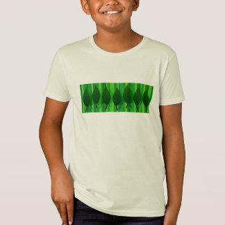 Green Leaf Stripes T-Shirt