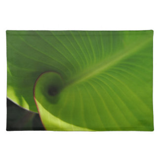 Green Leaf Swirl Cloth Placemat