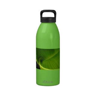 Green Leaf Swirl Drinking Bottle