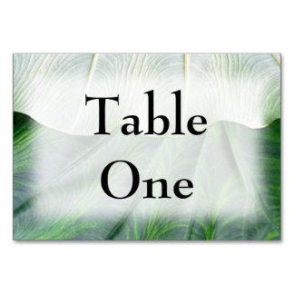 Green Leaf Table Card