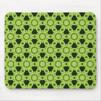 Green Leaf Terrazzo pattern Mouse Pad