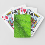 Green leaf texture bicycle playing cards