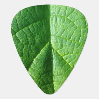 Green Leaf Texture Guitar Pick