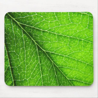 Green leaf texture mouse pad