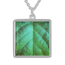 Green leaf Texture Necklace