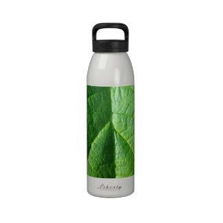 Green Leaf Texture Drinking Bottle