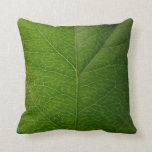 Green Leaf Throw Pillows