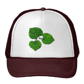 Green Leaf Trio Trucker Hat