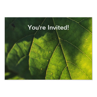 Green Leaf Veins Personalized Invite