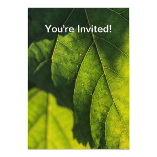 Green Leaf Veins Custom Invite