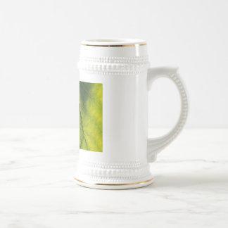 Green Leaf Veins Coffee Mugs
