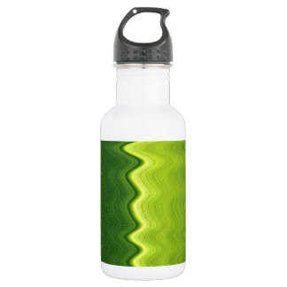 Green leaf wavelength water bottle