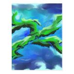 Green Leaf Wens Kaart