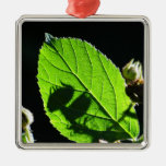 Green leaf with cool shadow christmas ornaments