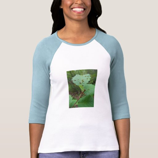 Green Leaf with Holes T Shirt