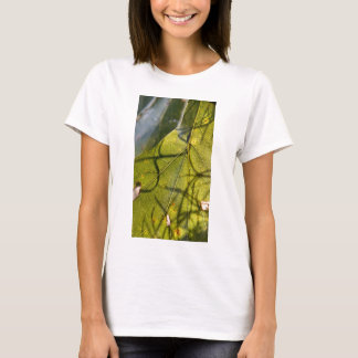 green leaf with Spanish moss tendrils in silhouett T-Shirt
