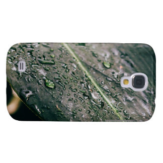 Green Leaf With Water Drops, Wet Botanics Samsung S4 Case