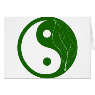 Green Leaf Yin Yang Card