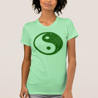 Green Leaf Yin Yang T Shirt