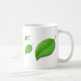 Green Leafs Classic White Coffee Mug