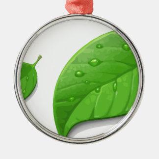 Green Leafs Metal Ornament