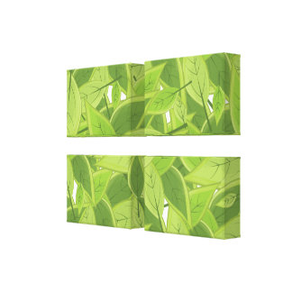 Green Leafs Pattern Canvas Print