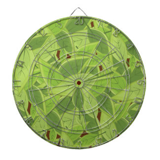 Green Leafs Pattern Dartboard With Darts
