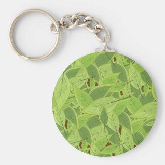 Green Leafs Pattern Keychain