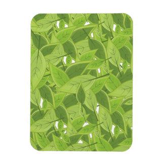 Green Leafs Pattern Magnet