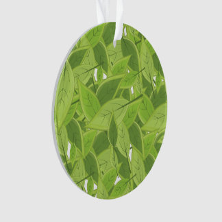 Green Leafs Pattern Ornament