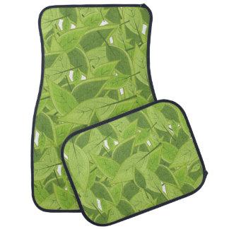 Green Leafs Pattern Floor Mat