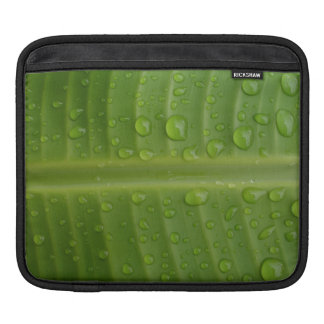 Green Leafs with Droplets iPad Sleeves